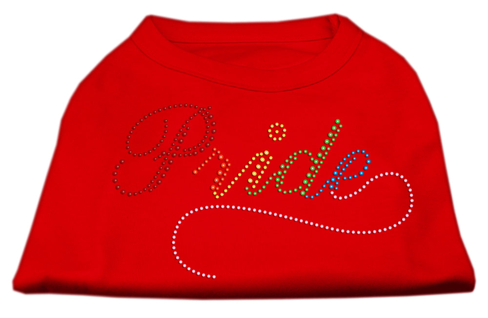 Rainbow Pride Rhinestone Shirts Red