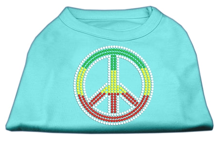 Rasta Peace Sign Shirts Aqua