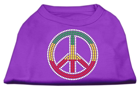 Rasta Peace Sign Shirts Purple