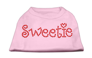 Sweetie Rhinestone Shirts Light Pink
