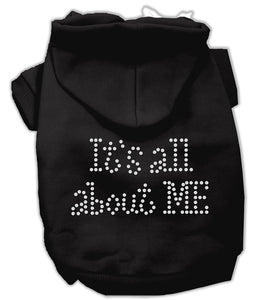 It's All About Me Rhinestone Hoodies