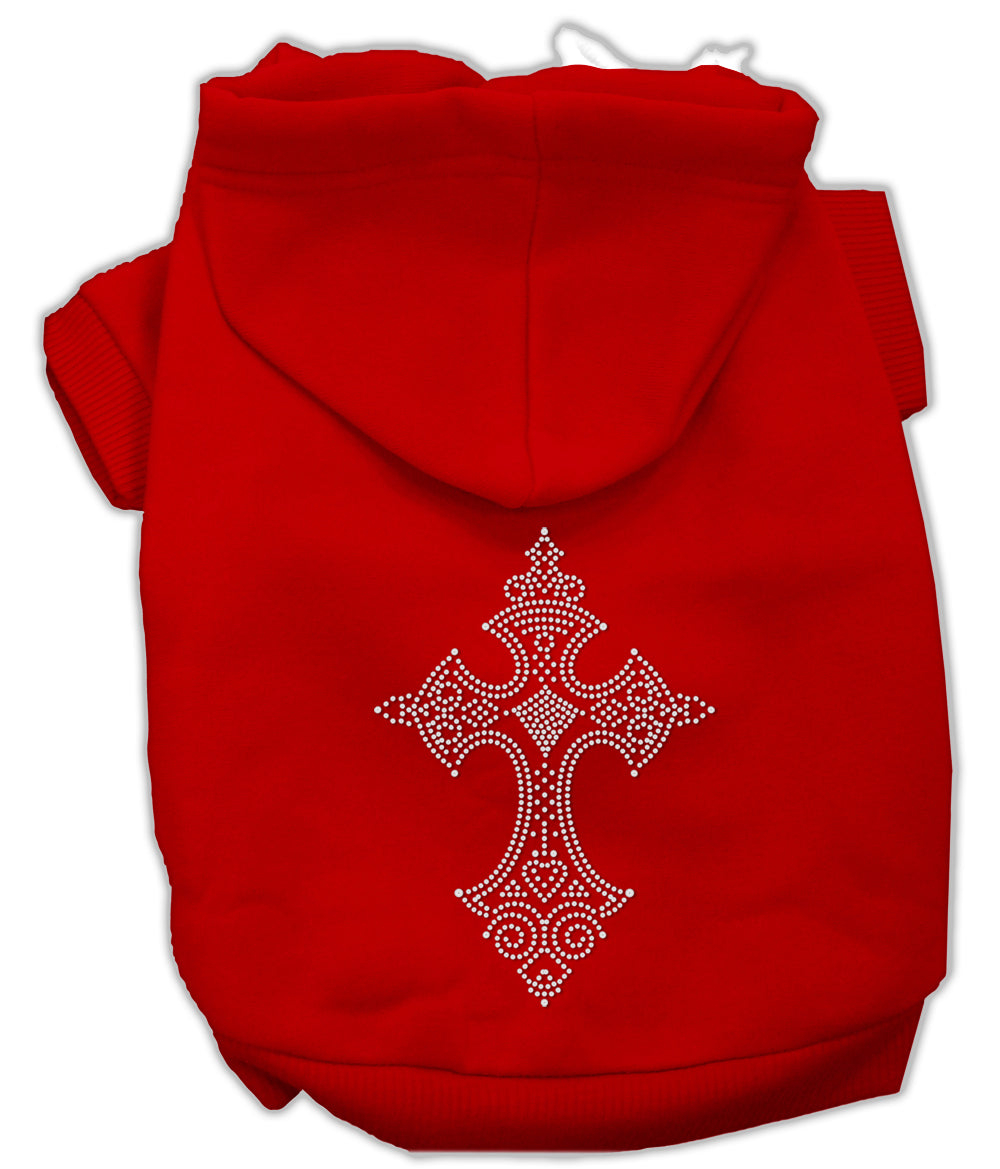 Rhinestone Cross Hoodies