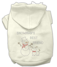 Load image into Gallery viewer, Snowman's Best Friend Rhinestone Hoodie