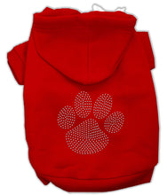 Load image into Gallery viewer, Clear Rhinestone Paw Hoodies