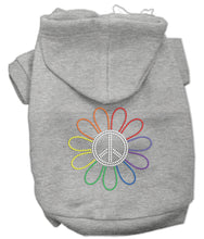 Load image into Gallery viewer, Rhinestone Rainbow Flower Peace Sign Hoodie
