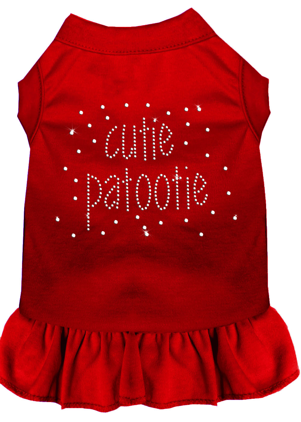 Rhinestone Cutie Patootie Dress Red
