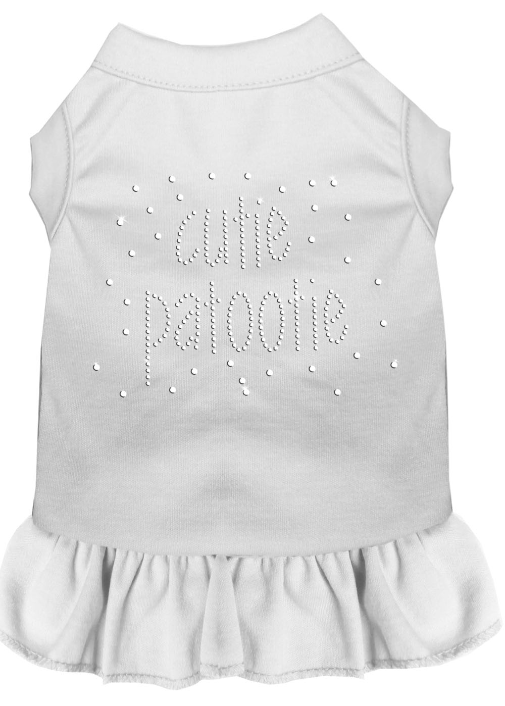 Rhinestone Cutie Patootie Dress White