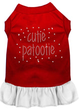 Load image into Gallery viewer, Rhinestone Cutie Patootie Dress Red