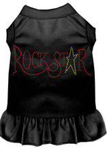 Load image into Gallery viewer, Rhinestone Rockstar Dress Black
