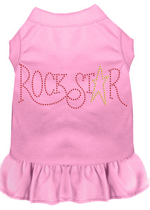 Rhinestone Rockstar Dress Light Pink