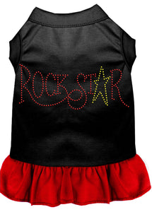 Rhinestone Rockstar Dress Black