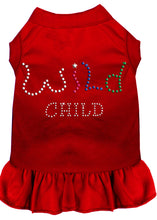 Load image into Gallery viewer, Rhinestone Wild Child Dress Red