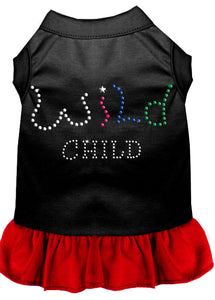 Rhinestone Wild Child Dress Black