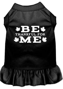 Be Thankful For Me Screen Print Dress Black