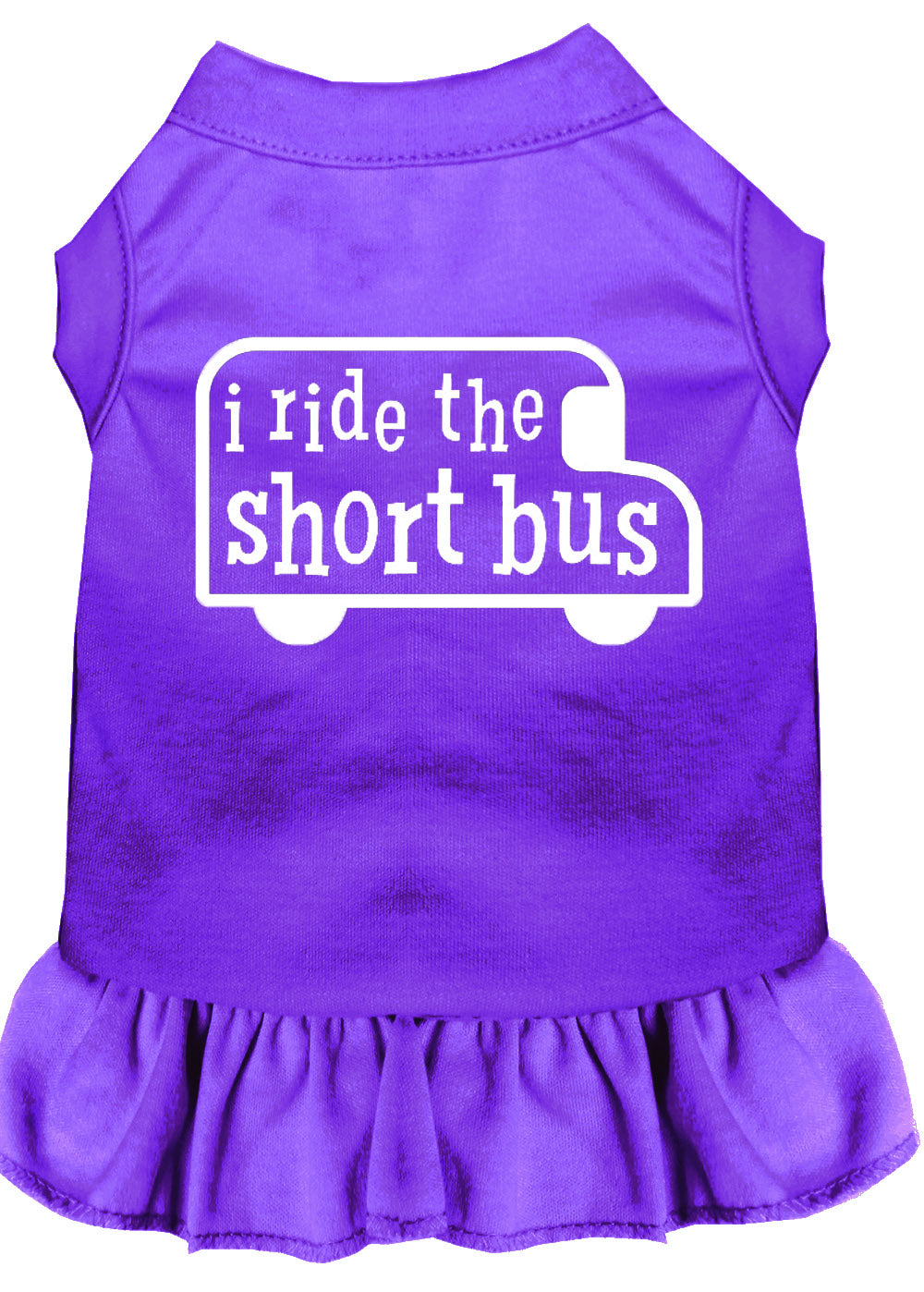 I Ride The Short Bus Screen Print Dress Purple