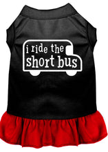 Load image into Gallery viewer, I Ride The Short Bus Screen Print Dress Black