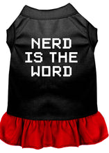 Load image into Gallery viewer, Nerd Is The Word Screen Print Dress Black