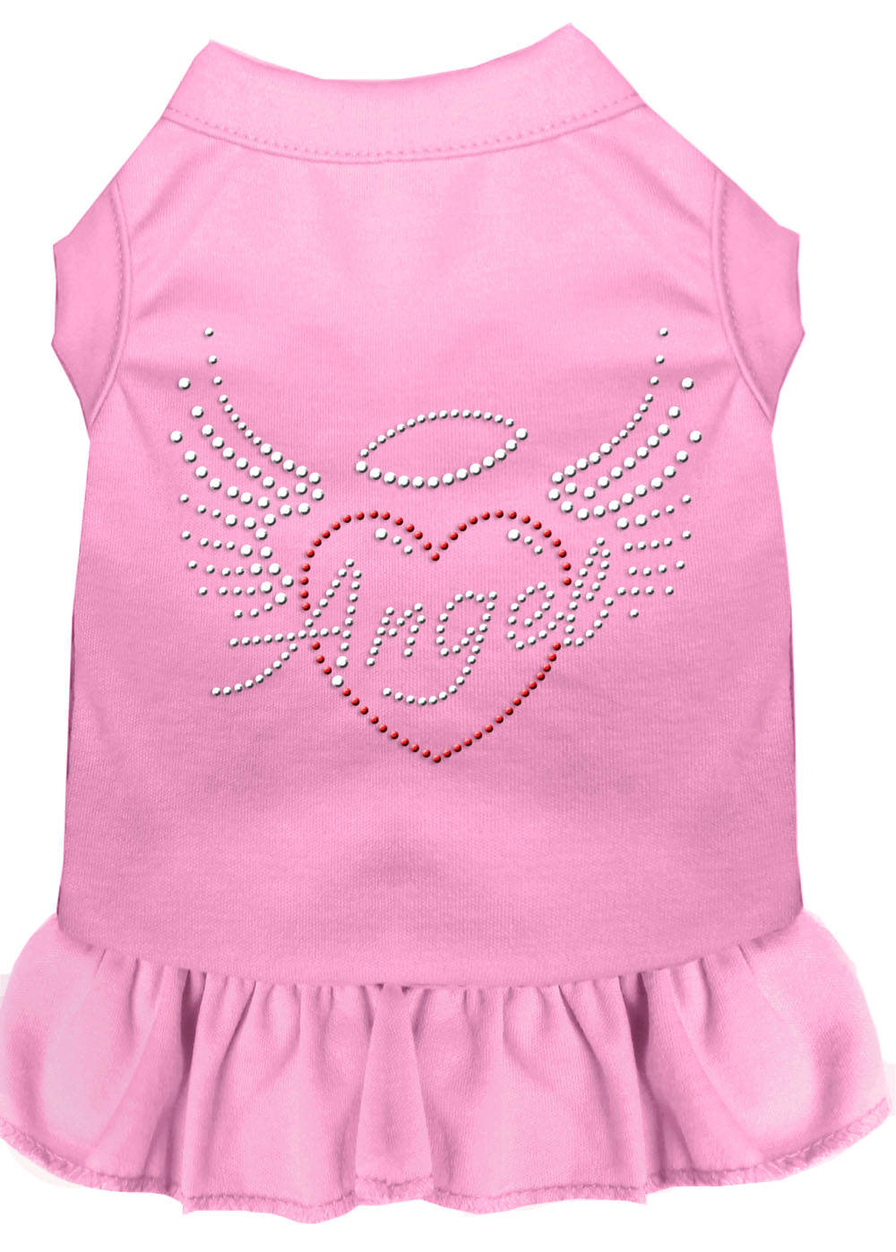 Angel Heart Rhinestone Dress Light Pink