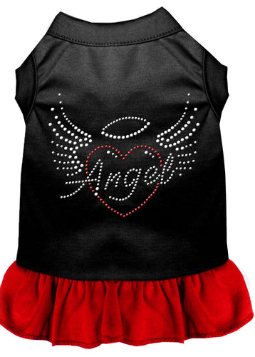 Angel Heart Rhinestone Dress Black With Red