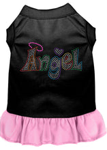 Load image into Gallery viewer, Technicolor Angel Rhinestone Pet Dress Black