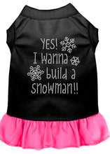 Load image into Gallery viewer, Yes! I Want To Build A Snowman Rhinestone Dog Dress
