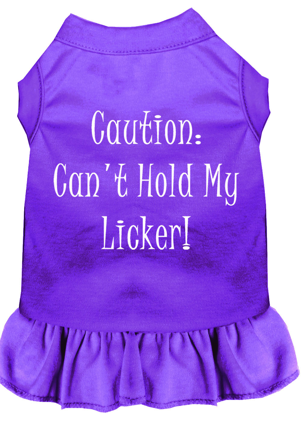 Can't Hold My Licker Screen Print Dress Purple