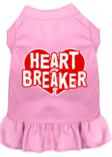 Heart Breaker Screen Print Dress Light Pink