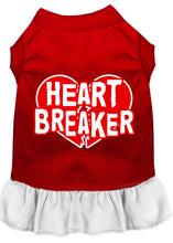 Load image into Gallery viewer, Heart Breaker Screen Print Dress Red
