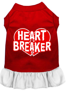 Heart Breaker Screen Print Dress Red