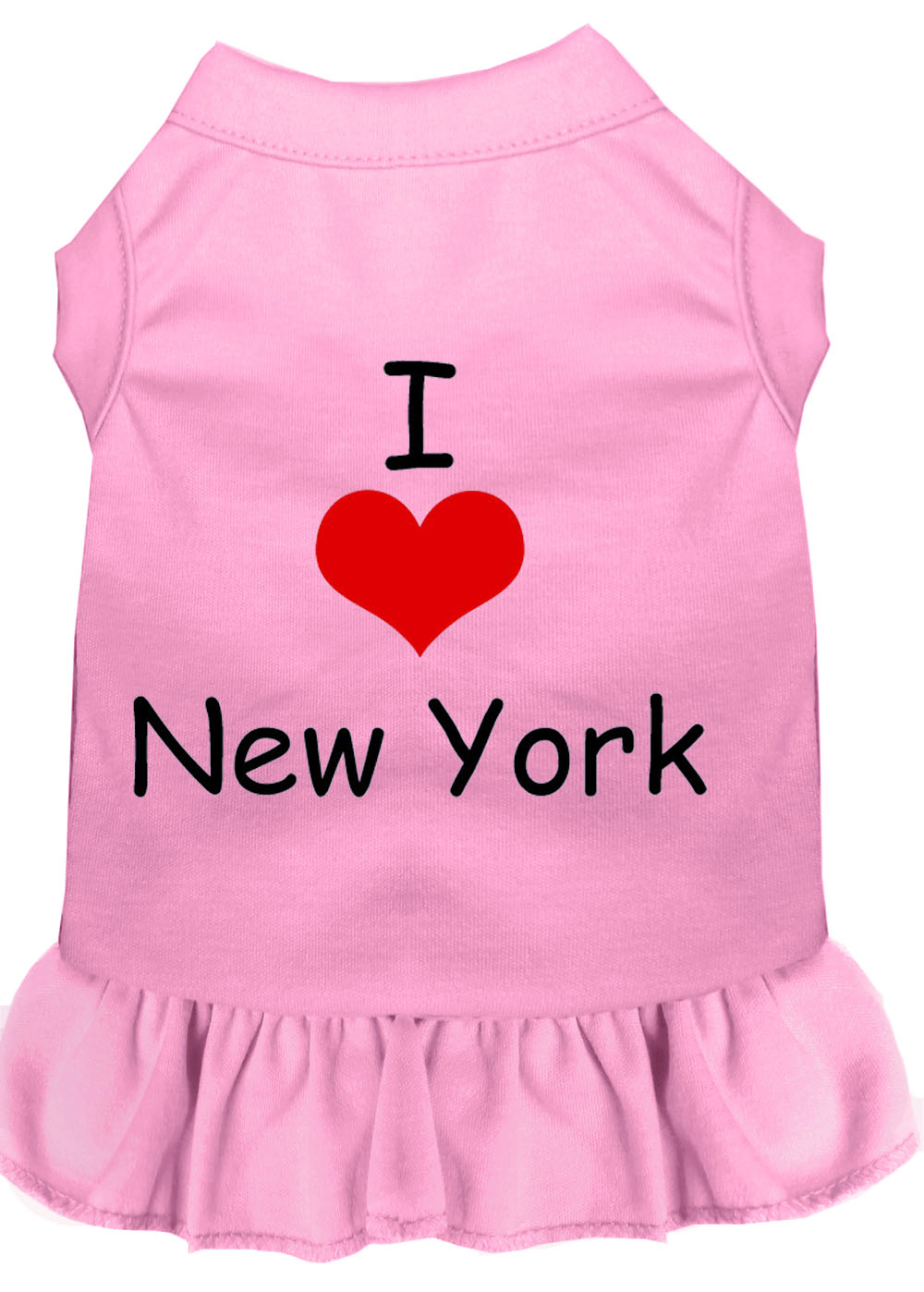 I Heart New York Screen Print Dress Light Pink