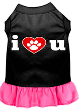 Load image into Gallery viewer, I Heart You Screen Print Dress Black