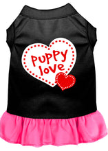 Load image into Gallery viewer, Puppy Love Screen Print Dress Black