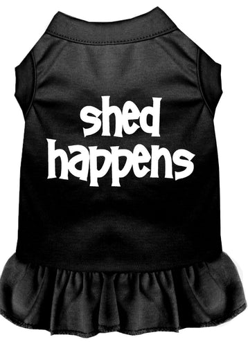 Shed Happens Screen Print Dress Black