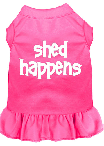 Shed Happens Screen Print Dress Bright Pink