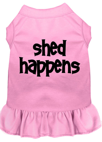 Shed Happens Screen Print Dress Light Pink