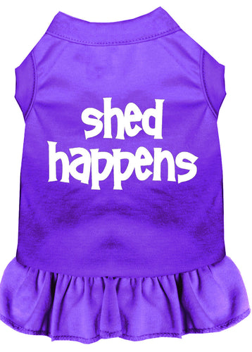 Shed Happens Screen Print Dress Purple