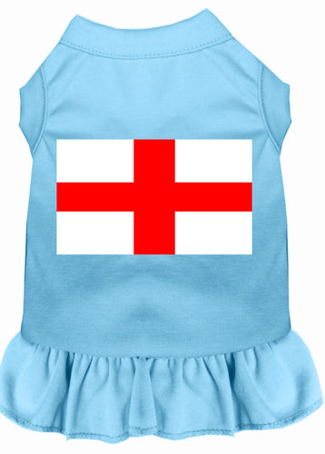 St. Georges Cross Screen Print Dress Baby Blue