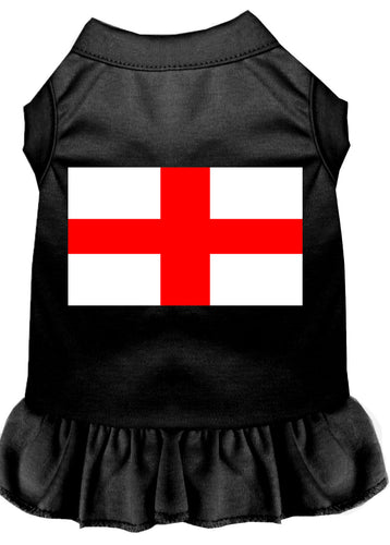 St. Georges Cross Screen Print Dress Black