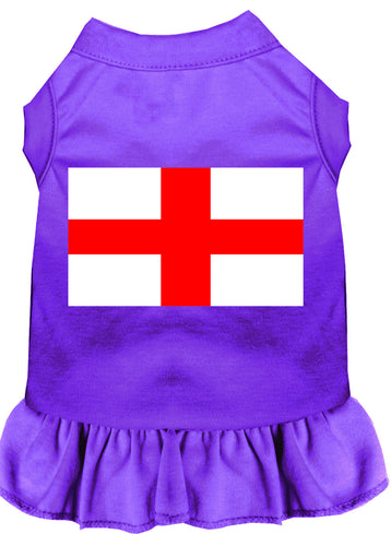 St. Georges Cross Screen Print Dress Purple