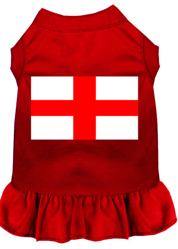 St. Georges Cross Screen Print Dress Red