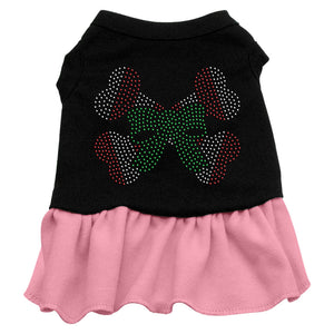 Candy Cane Crossbones Rhinestone Dress Black With