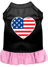 Load image into Gallery viewer, American Flag Heart Screen Print Dress Black