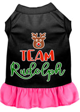 Load image into Gallery viewer, Team Rudolph Screen Print Dog Dress