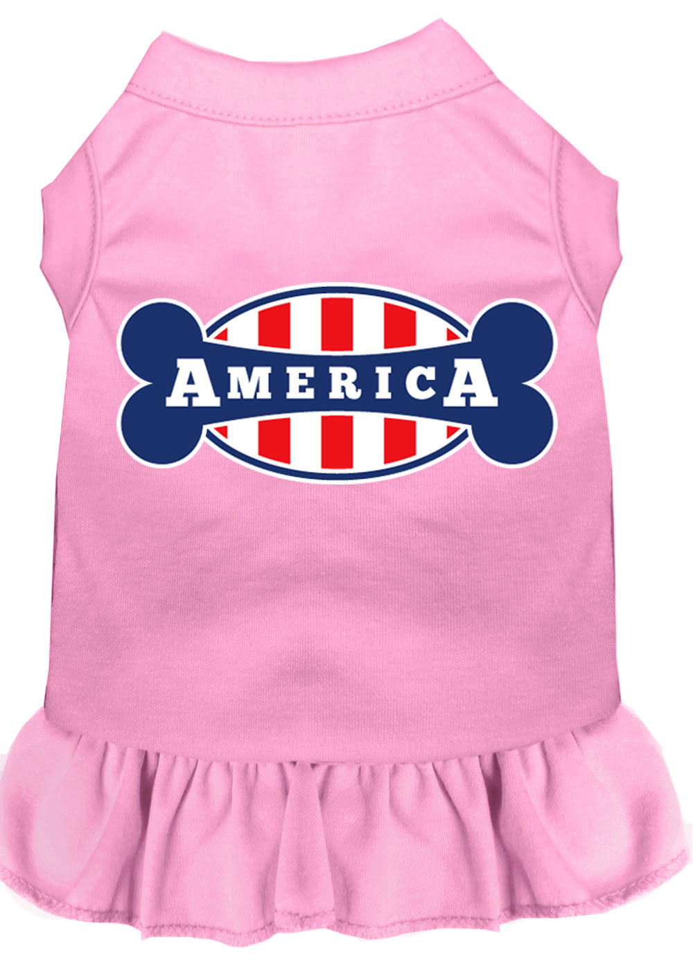Bonely In America Screen Print Dress Light Pink