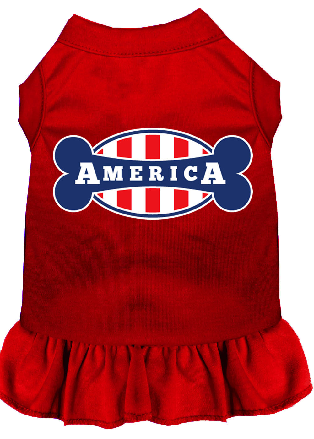 Bonely In America Screen Print Dress Red