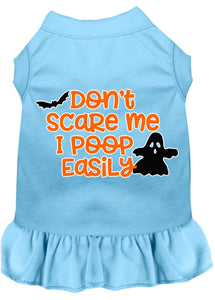 Don't Scare Me, Poops Easily Screen Print Dog Dress