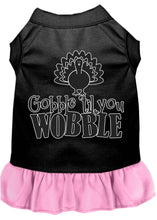 Load image into Gallery viewer, Gobble Til You Wobble Screen Print Dog Dress