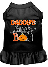 Load image into Gallery viewer, Daddy's Little Boo Screen Print Dog Dress