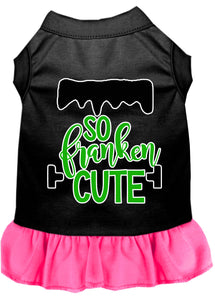 So Franken Cute Screen Print Dog Dress