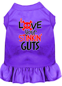 Love Your Stinkin Guts Screen Print Dog Dress